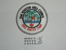 Winter Camp Patch, 1990, Sam Houston Area Council - Boy Scout