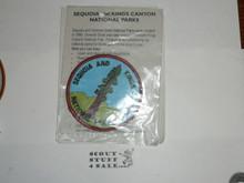 Vintage Sequoia & Kings Canyon National Park Travel Souvenir Patch
