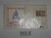 1957 National Jamboree SOSSI First day cover with cancellation and BSA stamp