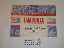 1964 National Jamboree Participant Card