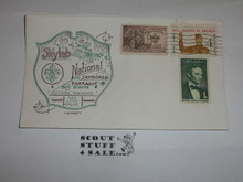 1973 National Jamboree Skylab Envelope with 2 Boy Scout stamps
