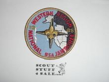1985 National Jamboree Western Region Patch, gold bdr