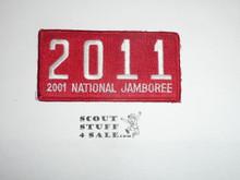 2001 National Jamboree JSP - Troop 2011 Patch