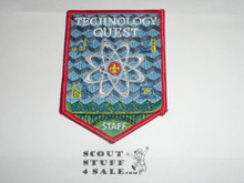 2013 National Jamboree Technology Quest STAFF Patch, red bdr