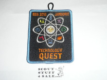 2013 National Jamboree Technology Quest Patch, blue bdr