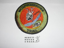 Woapikamikunk Trail Patch, fully embroidered, soiled