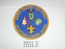 "Scouting Liason Officer Postition Patch, United States Air Force, Vietnam era, spelled ""LIAISON"""