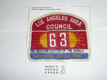1960 National Jamboree JSP - Los Angeles Area Council, Troop 63, sewn