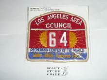 1960 National Jamboree JSP - Los Angeles Area Council, Troop 64, sewn