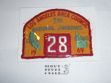 1969 National Jamboree JSP - Los Angeles Area Council, Troop 28, sewn