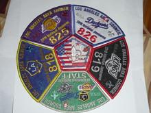 2010 National Jamboree JSP - Los Angeles Area Council, set of 6