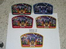 2005 National Jamboree JSP - Verdugo Hills Council, set of 5, black ghost not included