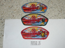 2013 National Jamboree JSP - San Francisco Bay Area Council 3 piece patch set