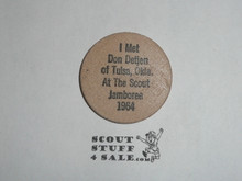 1964 National Jamboree Wooden Nickel, Don Detjen