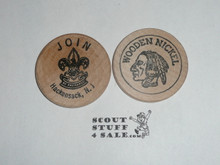 JOIN Hackensack NJ Boy Scout Wooden Nickel