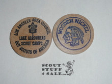 Lake Arrowhead Scout Camps, Los Angeles Area Council, Boy Scout Wooden Nickel