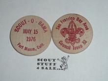 San Francisco Bay Area Council 1976 Scout-O-Rama Boy Scout Wooden Nickel