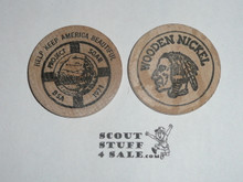 Project SOAR Boy Scout Wooden Nickel