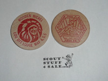 Order of the Arrow Area 5B 1979 Conference Lou Ott Lodge, Boy Scout Wooden Nickel