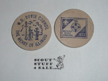 1977 National Jamboree WD Boyce Council, Boy Scout Wooden Nickel