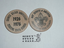Okefenokee Council 1976 Golden Jubilee Boy Scout Wooden Nickel