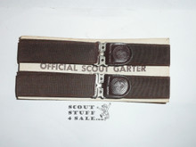 Official Boy Scout Garters New on issue card