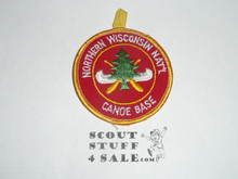 Region Seven Explorer Canoe Base, Patch Titled Northern Wisconsin National Canoe Base, with button loop