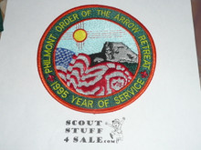 Philmont Scout Ranch, 1995 Order of the Arrow Retreat Jacket Patch