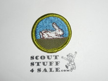 Rabbit Raising - Type F - Rolled Edge Twill Merit Badge (1961-1968)
