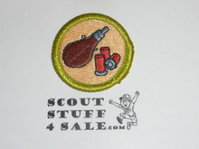Shotgun Shooting - Type J - Fully Embroidered Merit Badge with Scout Stuff backing (2002-current)