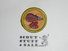 Shotgun Shooting - Type K - Fully Embroidered Merit Badge with 100th Anniv backing (2010)