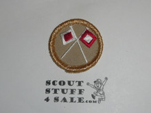 Signaling (commemorative 100th Anniv)- Type K - Fully Embroidered Merit Badge with 100th Anniv backing (2010)
