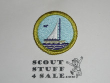 Small Boat Sailing - Type J - Fully Embroidered Merit Badge with Scout Stuff backing (2002-current)