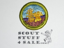 Small Grains - Type H - Fully Embroidered Plastic Back Merit Badge (1972-2002)