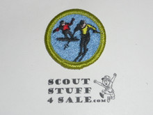 Snow Sports - Type H - Fully Embroidered Plastic Back Merit Badge (1972-2002)