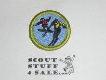 Snow Sports - Type J - Fully Embroidered Merit Badge with Scout Stuff backing (2002-current)
