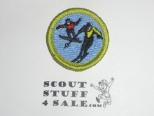 Snow Sports - Type K - Fully Embroidered Merit Badge with 100th Anniv backing (2010)