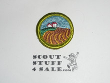Soil & Water Conservation (horz rows)- Type G - Fully Embroidered Cloth Back Merit Badge (1961-1971)