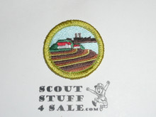 Soil and Water Conservation - Type K - Fully Embroidered Merit Badge with 100th Anniv backing (2010)