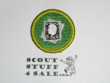 Stamp Collecting - Type J - Fully Embroidered Merit Badge with Scout Stuff backing (2002-current)