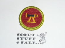 Surveying - Type J - Fully Embroidered Merit Badge with Scout Stuff backing (2002-current)