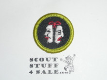 Theater - Type J - Fully Embroidered Merit Badge with Scout Stuff backing (2002-current)
