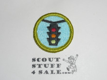 Traffic Safety - Type J - Fully Embroidered Merit Badge with Scout Stuff backing (2002-current)