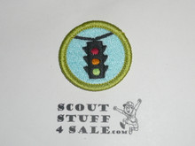 Traffic Safety - Type K - Fully Embroidered Merit Badge with 100th Anniv backing (2010)