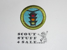 Traffic Safety 38mm - Type I - Fully Embroidered Computer Designed Merit Badge (1993-1995)