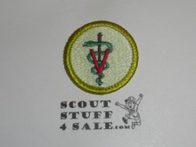 Veterinary Science - Type J - Fully Embroidered Merit Badge with Scout Stuff backing (2002-current)