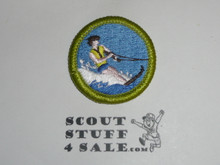 Water Skiing (life vest with trim) - Type J - Fully Embroidered Merit Badge with Scout Stuff backing (2002-current)