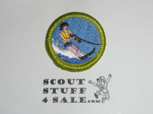 Water Skiing (life vest) - Type J - Fully Embroidered Merit Badge with Scout Stuff backing (2002-current)