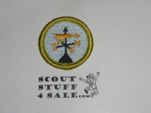 Weather - Type J - Fully Embroidered Merit Badge with Scout Stuff backing (2002-current)