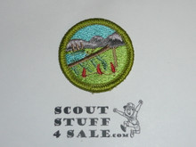 Wilderness Survival - Type K - Fully Embroidered Merit Badge with 100th Anniv backing (2010)